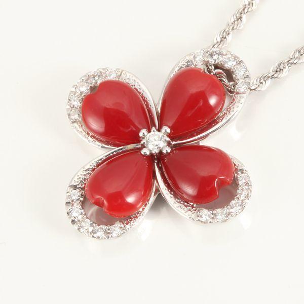 【GINZA PARIS】K18WG 红珊瑚 项链/208,000日元