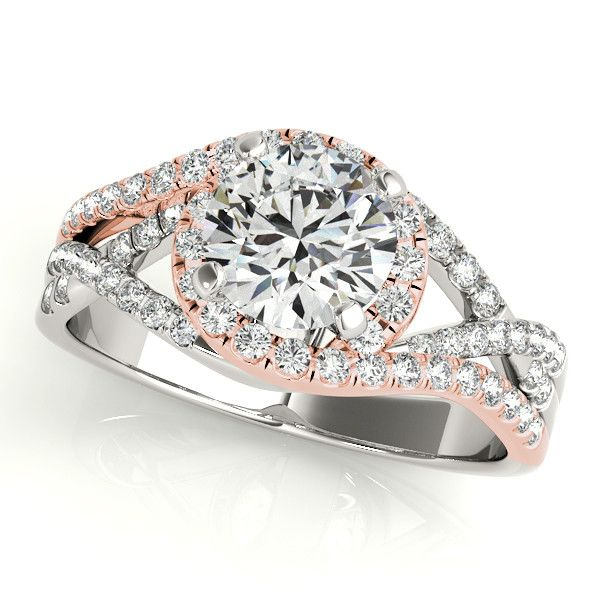Two Tone Multi-Row Engagement Ring from Spexton Custom Jewelry