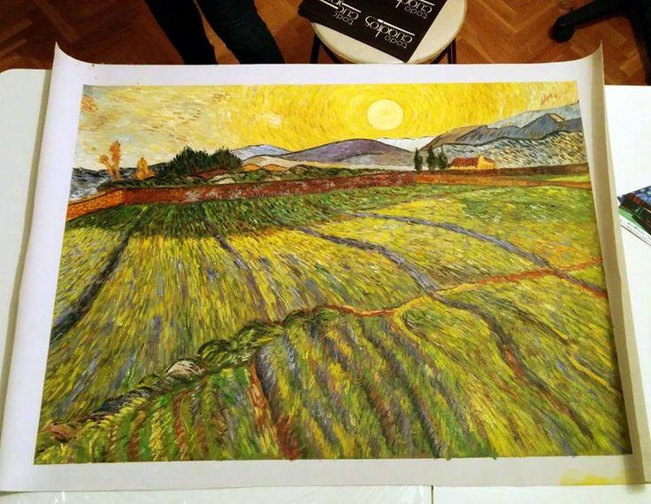 Riproduzione a olio su tela di un quadro di Van Gogh