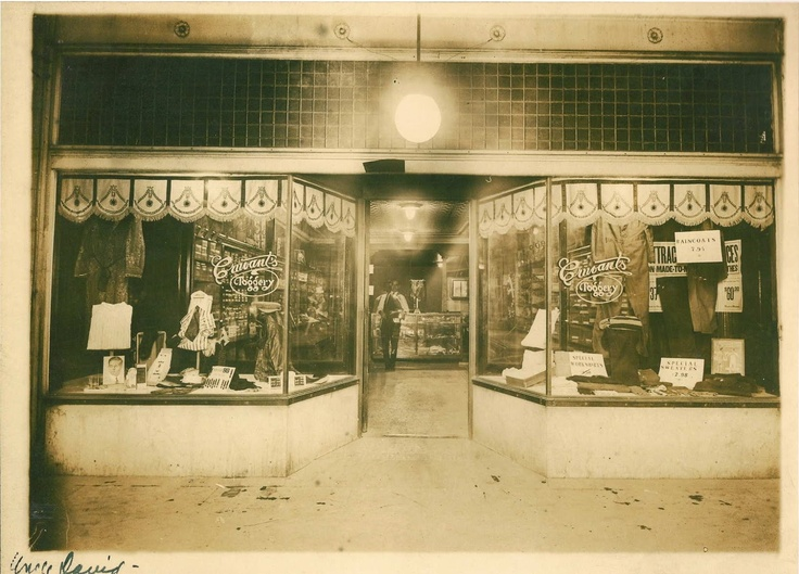 Cruvant's Toggery - East St. Louis - 1910-1920. Clothing store owned by 2nd Great Uncle, David Cruvant.