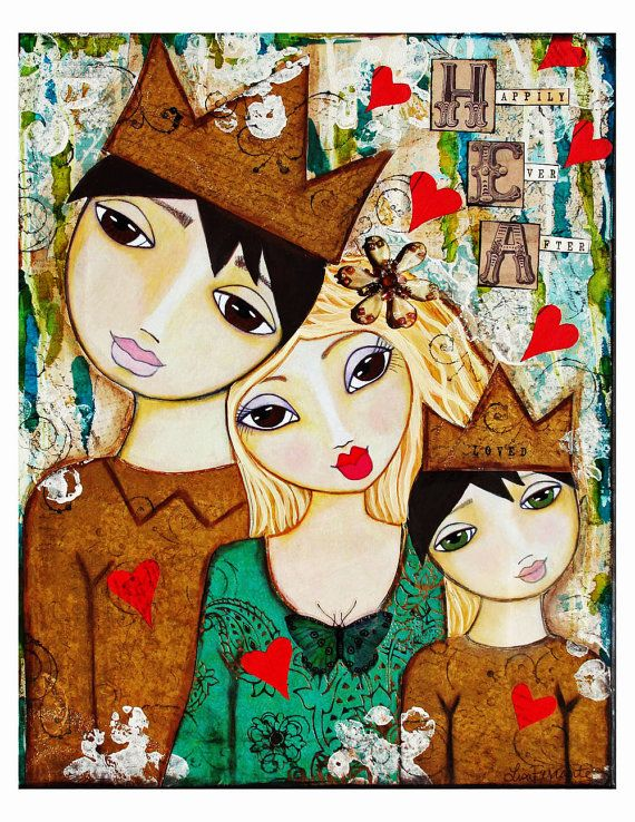 Happily Ever After ll Fine Art Print of Mixed by chloeandsofiasmom. Want this one customized for my family