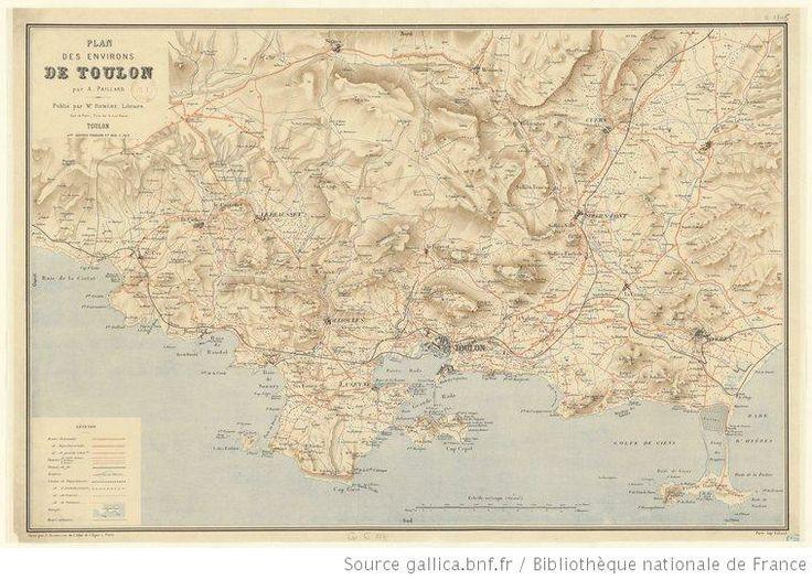 Plan des environs de Toulon / par A. Paillard - 1897