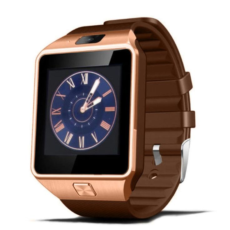 """1PC Bluetooth Smart Watch DZ09 GSM Smartwatch For Android Phone (Gold). This watch is Bluetooth 3.0. All functions support android 4.3 and up smart phones. But for iphone, not it just support answer & call, phone book, music play, camera, clock, pedometer, phone anti-lost alert. Still not support SMS, Radio, remote camera control, sleep monitoring, etc. 100% brand new and high quality. Quantity:1Set,1.56"""" TFT LCD Touch Screen 240*240 pixels,2.0M Camera, Video Recording Support,Anti-loss..."""