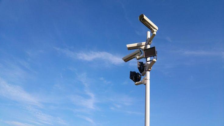 💡 Get this free picture Black and White Cctv Cameras    ✅ https://avopix.com/photo/34442-black-and-white-cctv-cameras    #sky #pole #antenna #turbine #power #avopix #free #photos #public #domain