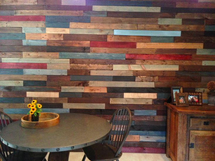 25 best ideas about pallet wood walls on pinterest for Reclaimed pallet wood wall