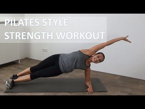 40 minute pilates style strength workout  full body