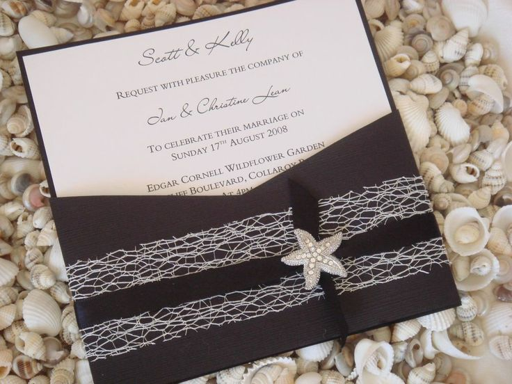 31 best wedding invitations images on pinterest invitation ideas beach wedding pocket invitation diy kit reef design midnight 10 pcs solutioingenieria Gallery