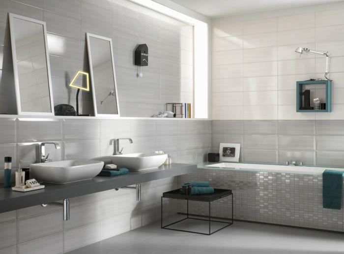 399 best badezimmer images on Pinterest Bathroom inspiration - badezimmer fliesen beispiele
