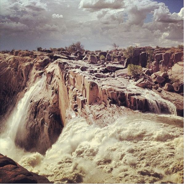 The Augrabies Falls in the Northern Cape were flowing at full force this week after a batch of good rain. Watch a video here --> http://www.news24.com/Travel/Multimedia/WATCH-Augrabies-Falls-in-full-force-20140324