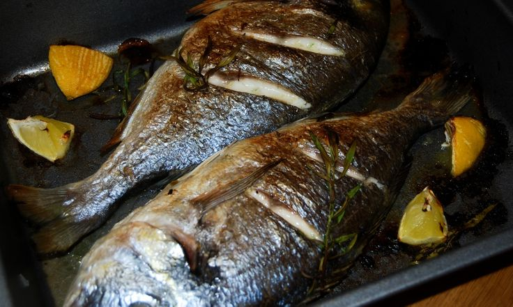 Grilled sea bream with tarragon and lemon - a #lowfat, high quality #protein dish brimming with #vitamins and #minerals