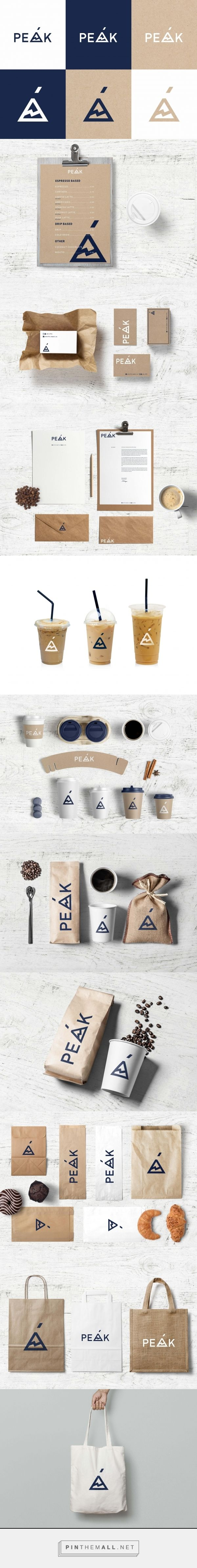 Peak Coffee House Branding by Fivestar Branding Agency | Fivestar Branding Agency – Design and Branding Agency & Curated Inspiration Gallery #coffeebranding #branding #brand #logo #design #designinspiration