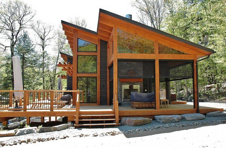Beautiful Modern Las Ventanas Model Designed by Discovery Dream Homes. #Log #Timberframe #Custom #Modern #LasVentanas #Contemporary #DiscoveryDreamHomes