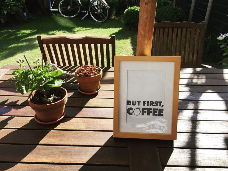 But first coffee quote print