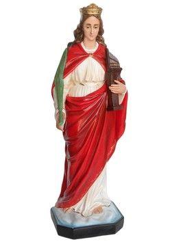 S. Cecilia  altezza cm. 130 in vetroresina dipinta con colori acrilici e finiture ad olio disponibile anche con occhi di vetro  http://www.ovunqueproteggimi.com/collezione-statue/sante/cecilia/