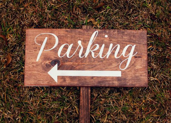 Ceremony Parking Wedding Sign  Reclaimed Wood by SweetNCCollective, $30.00