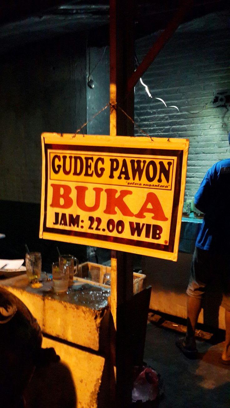 Gudeg Pawon in Yogyakarta open in  midnight everyday