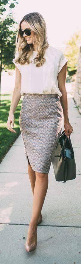 Zipper up the side skirt-but still classy