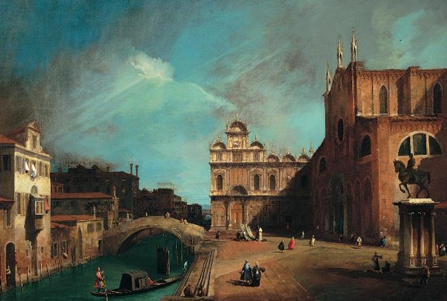 CANALETTO (GIOVANNI ANTONIO CANAL)  1697 - 1768 -  Campo Santi Giovanni e Paolo