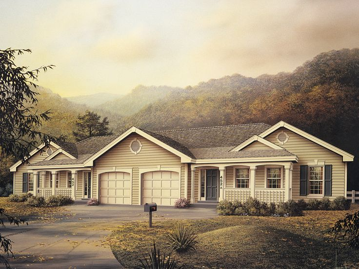 I think this is the perfect one (with a few modifications)! Shadydale Multi-Family Home  from houseplansandmore.com