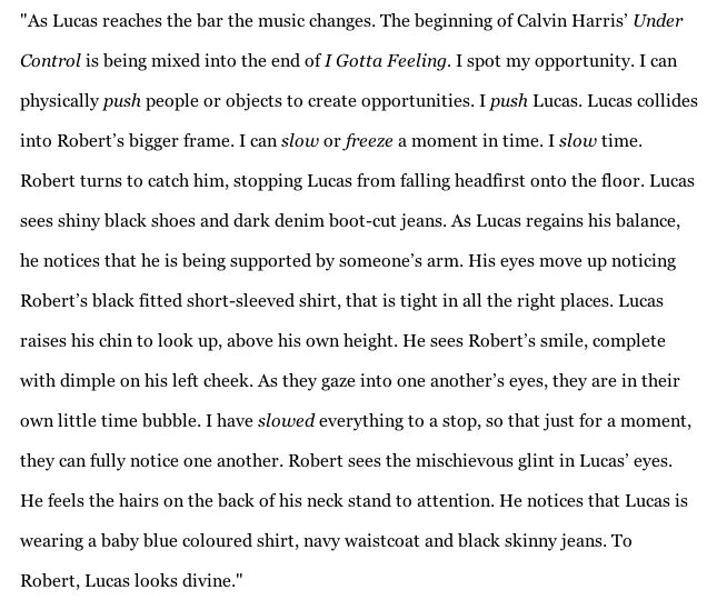 Soulmates is my latest short story in the gay romance genre. Here is the synopsis: In Soulmates Robert and Lucas keep missing each other. In fact, they've never met. That is until a disembodied spi…