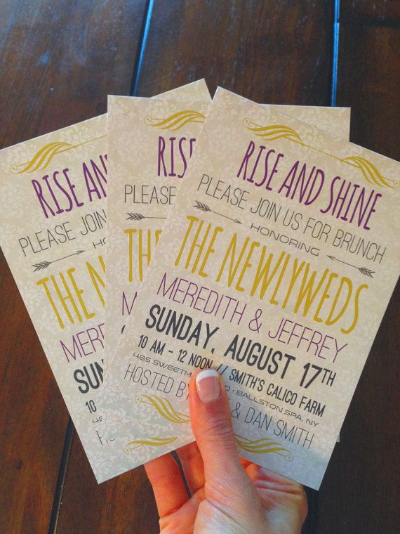 Post Wedding Brunch Invitation Postcard by TheDesignBrewery, $1.75