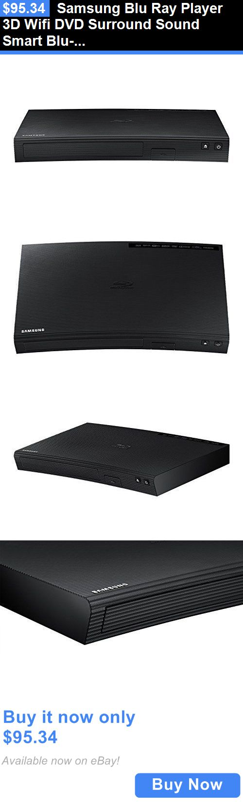 DVD and Blu-ray Players: Samsung Blu Ray Player 3D Wifi Dvd Surround Sound Smart Blu-Ray Refurbished BUY IT NOW ONLY: $95.34