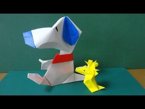 """折り紙「スヌーピー」体 Origami""""Snoopy""""Body - YouTube"""