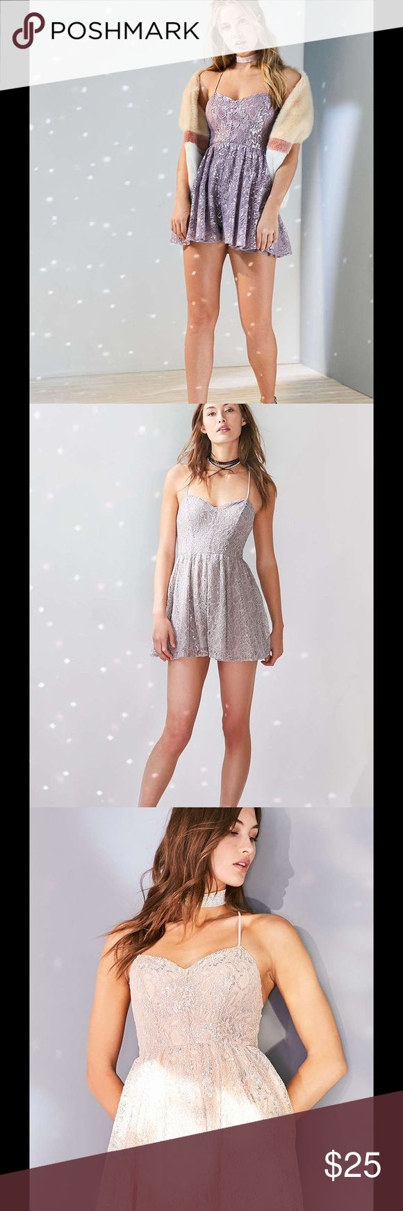 "Urban Outfitters Kimchi Blue Shimmer Lace Dress DO NOT BUY THIS LISTING! Download the Dote shopping app and get this dress for $25 NWT plus FREE SHIPPING using the promo code ""PDIN at checkout. Urban Outfitters Dresses"