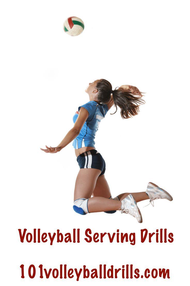 Great list of free serving drills!  #volleyball #volleyballdrills