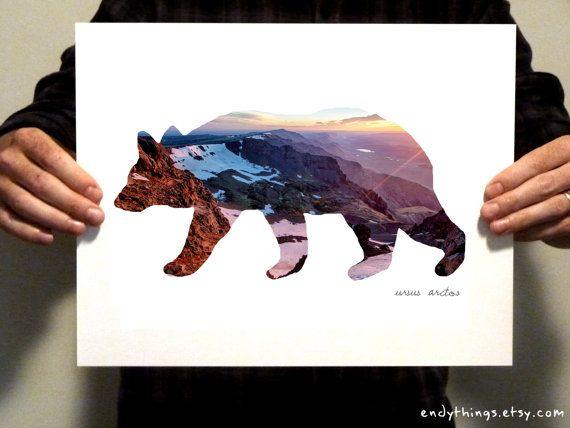 Grizzly Bear Habitat Print by EndyThings on Etsy