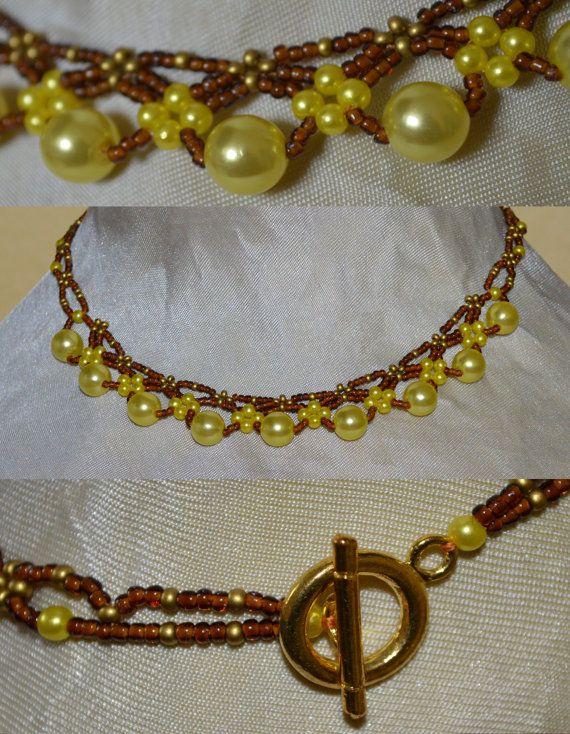Handmade bead weaving Necklace by LasEgi on Etsy