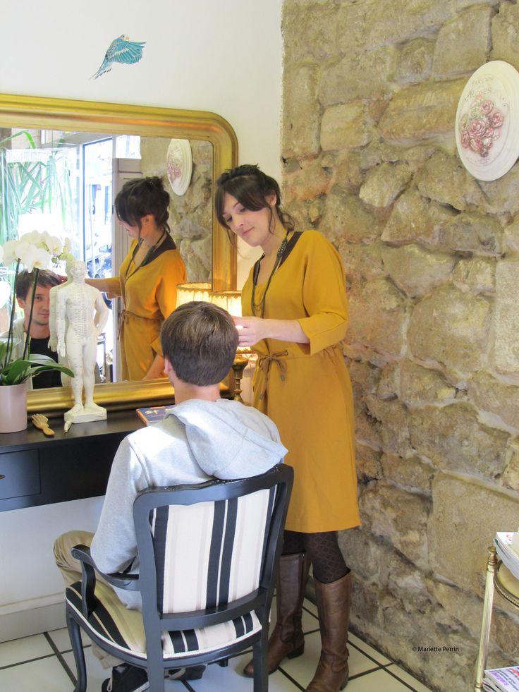 Mariette Perrin, coiffeuse bio à Bordeaux, coupe énergétique, teintures naturelles...