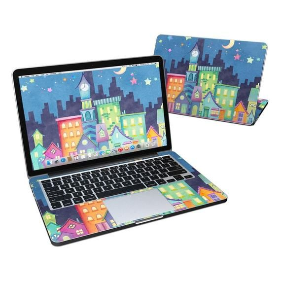 MacBook Skin – Our Town by Nicole Tamarin – Vinyl Decal Sticker Cover – Fits Pro, Air, 11in, 12in, 1