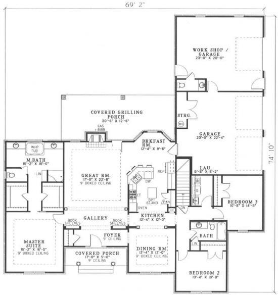 12 best house plans images on pinterest home plans for Sunroom floor plans