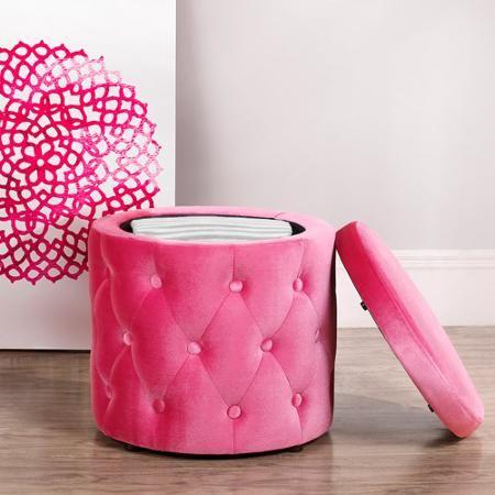 9 by Novogratz Round Storage Ottoman with Buttons, Multiple Colors -  Walmart.com - 25+ Best Ideas About Pink Ottoman On Pinterest Bedroom Ottoman