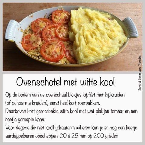 Ovenschotel met witte kool Zonder kaas en aardappel PN-proof