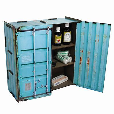 WERKHAUS Wall Cabinet Container Turquoise co1803 Medicine Cabinet Locker Cabinet