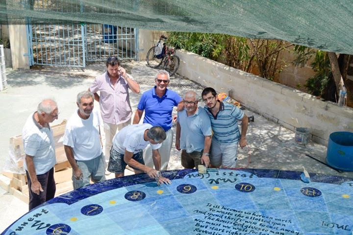 This record breaking Sundial is one of a kind . It has been produced out of volcanic stone by Mediterranean Ceramics and its talented artists worked together to produce the beautiful finished product you can now see at Stella Maris College