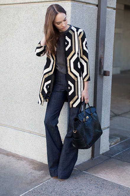 Mod Coat Dress - Big Geo | Emerson Fry