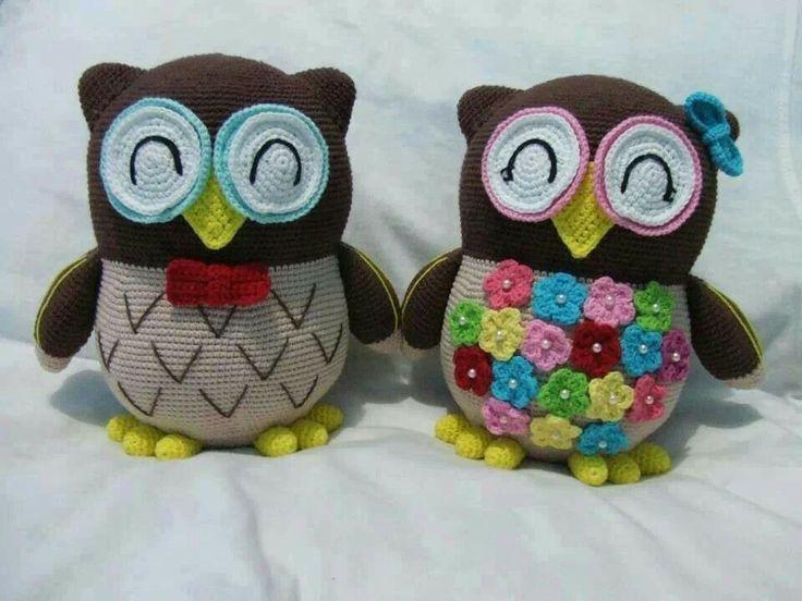 Amigurumi Cute Owl Twins : 17 Best images about buhos ganchillo on Pinterest ...