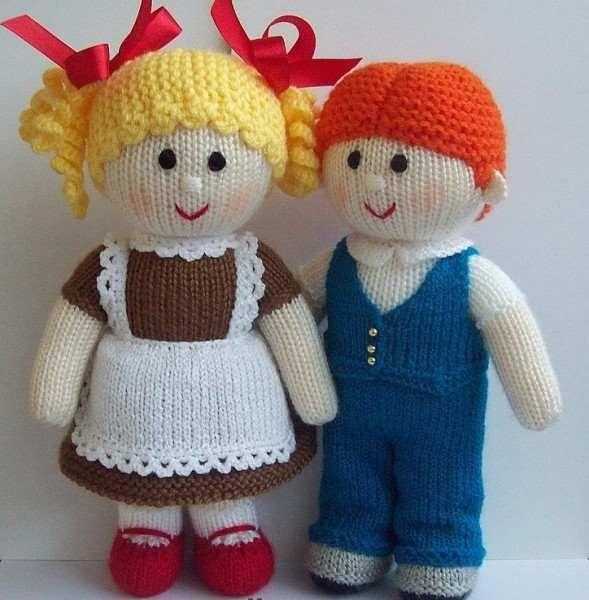örgüden kız ve erkek arkadaş