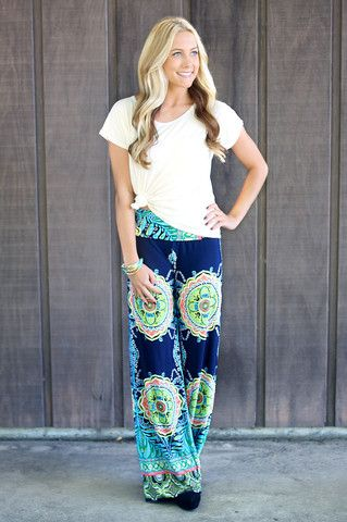 Tilted Kilt Palazzo Pants $27.99 - would be nice in a solid color or striped print