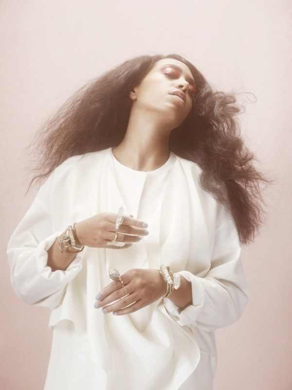 Solange Ethereal 70s-Inspired Photo Shoot for Bang and Olufsen Magazine