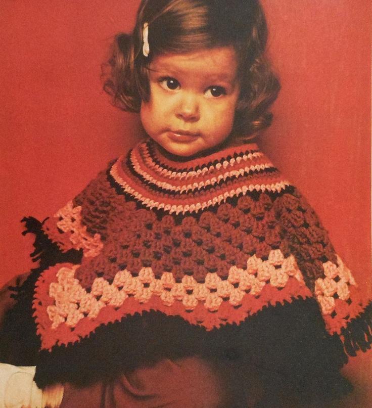 Dorable Childs Patrón De Crochet Poncho Inspiración - Manta de Tejer ...
