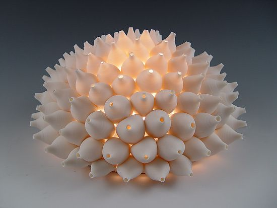 Shells Wall Light by Lilach Lotan: Ceramic Wall Light available at www.artfulhome.com