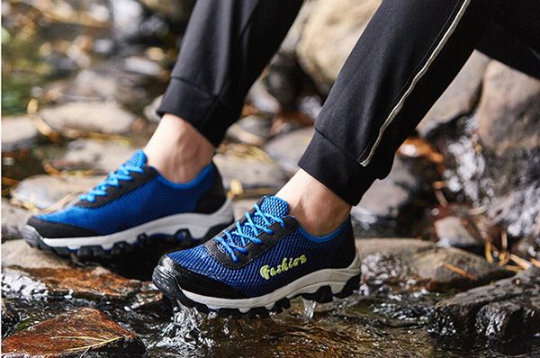 Breathable Mesh Lace Up Sport Running Athletic Shoes