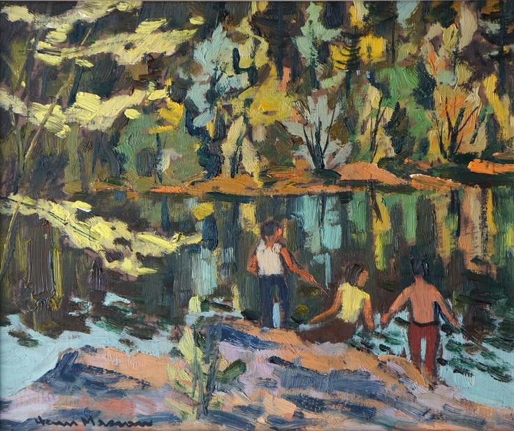 Henri Masson - Fishing in the Gatineau River