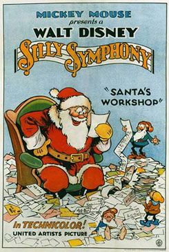 "Disney movie short cartoon poster ""Santa's Workshop"" Silly Symphony"