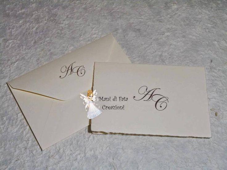 Partecipazione matrimonio classica - Wedding classic invite