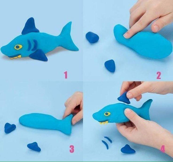 Hướng dẫn nặn con cá mập